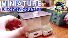 미니어쳐 아일랜드 식탁 만들기 miniature - kitchen counter
