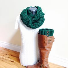 A personal favorite from my Etsy shop https://www.etsy.com/listing/462147434/ready-to-ship-boot-cuffs-with-infinity
