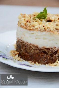 muhallebili incir tatlısı Yogurt, Tart, Deserts, Food And Drink, Cooking Recipes, Pudding, Vegan, Cookies, Opera