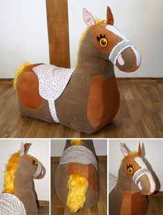 Nähanleitung für ein Stoffpferd für Kinder / diy sewing instruction: cute horse to play with by frauscheinerebooks via DaWanda.com