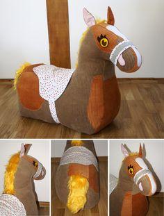 Nähanleitung für ein Stoffpferd für Kinder / diy sewing instruction: cute horse to play with by frauscheinerebooks via DaWanda.com