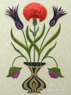 Alev Uzun Mughal Paintings, Flora Flowers, Oriental, Collage, 3d Paper, Islamic Art, Textile Design, Wall Design, Fresco