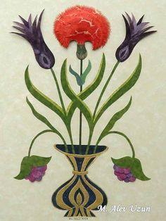 Alev Uzun Flora Flowers, Oriental, Collage, 3d Paper, Islamic Art, Wall Design, Fresco, Paper Cutting, New Art