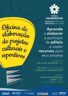 Oficina de elaboração de projetos culturais e esportivos | Espaço Colaborativo