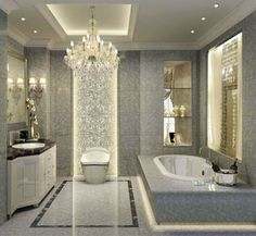 luxury bathroom designs with grey color