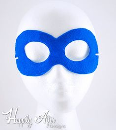 Superhero Plain Mask Embroidery by HappilyAfterDesigns on Etsy