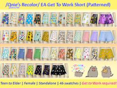 Get to work is needed! cheers! ♡ My download links • EA GTW Skort (Plain) • EA GTW Skort (Patterned) Thank you and feel free to tag @qvoix when you use them, I'll love to see what you've done! You can...