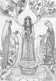 Perthro rune...Norns... by AnnaIceflames.deviantart.com
