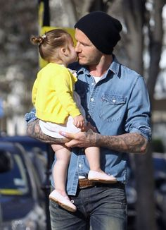 David Beckham is TOO CUTE with Harper...Get more precious father-daughter moments here!