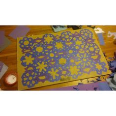 Snowflakes Fall (Quilting with paper.   #Background #paper...)