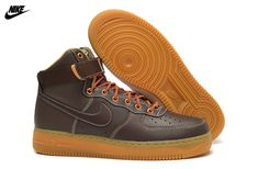 e42bcd3dfab4c Mens Nike Air Force One High 07 Basketball Shoes Baroque Brown Sail  Metallic Bronze 315121-