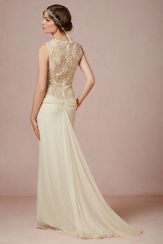 Stunning back detail ! The #Cypress gown features intricate beading I @BHLDN Weddings Weddings