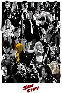 Sin city by PotteringAbout on DeviantArt Sin City Comic, City Quotes, Brittany Murphy, Non Plus Ultra, Frank Miller, City Wallpaper, Alternative Movie Posters, Fan Art, Psychedelic Art