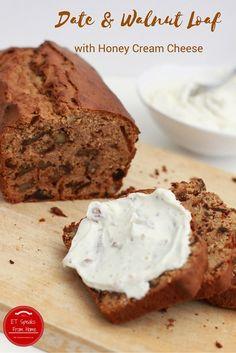 Date & Walnut Loaf with Honey Cream Cheese by Eileen Teo #BAKEoftheWEEK