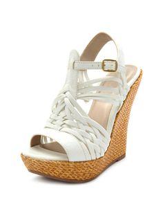 Basket-Weave Huarache Wedge-Charlotte Russe