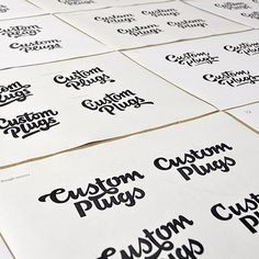 Process shot! The new @ukcustomplugs logo was launched a couple of days ago #sketches #process #type #design #calligraphy #logo #logotype #ligature #lettering #hand #handlettering #typography #brand #craft #handcrafted #drawing #handdrawn #letters #customtype #bespoketype #script #logos #branding #font #typeface #goodtype #typeverything