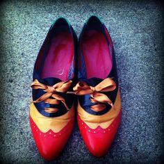 Vintage Wingtip Spectator Oxford Shoes