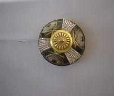 e6862191a506 Plafon En Cristal Tallado Y Cristal De Roca -acc.bronce-2l. -