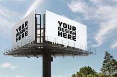 #Billbord #mockup #CG #image #design #AD #npine #iclickart