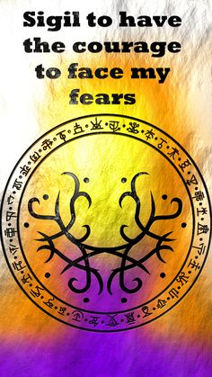 Sigil to have the courage to face my fears Wiccan Symbols, Mayan Symbols, Viking Symbols, Egyptian Symbols, Viking Runes, Ancient Symbols, Wiccan Spell Book, Wiccan Spells, Magick