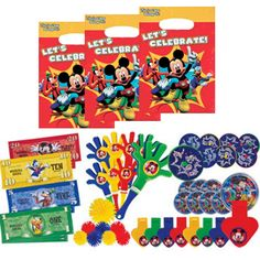 56 pcs. Mickey Mouse Clubhouse Party Favor Value Set - Favors or Piñata Fillers
