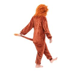 Comfortable Soft Lion King Brown Girls Funny Pajamas – alfagoody