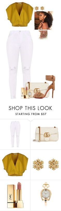 """PYT"" by mikamik on Polyvore featuring Gucci, Jil Sander, Yves Saint Laurent and Christian Louboutin"