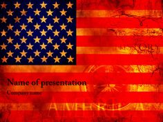 American flag powerpoint template templates pinterest american flag powerpoint template toneelgroepblik Images