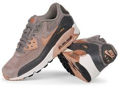 8fc0224bc403 Nike Air Max 90 Leather in Iron Metallic and Red Bronze