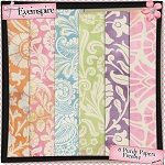 """Free digital scrapbook papers """"Oh So Purdy"""" from Eyeinspire"""