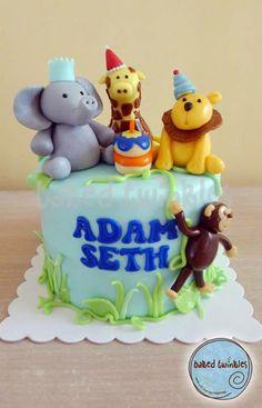 animal kaiser themed celebration cake Baked Twinkles by design