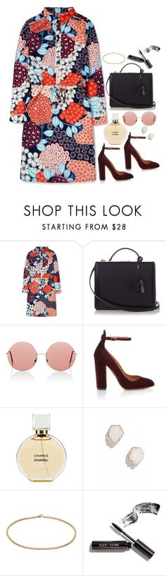 """Untitled #1924"" by samikayy76 ❤ liked on Polyvore featuring Boden, Mark Cross, Christopher Kane, Aquazzura, Chanel, Kendra Scott and Bobbi Brown Cosmetics"