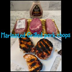 Marinated grilled pork chops Marinated Pork Chops Grilled, Allrecipes, Love Food, Sweet, Candy