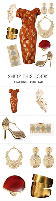 """""""#PolyPresents: Statement Jewelry"""" by lachicamercedes ❤ liked on Polyvore featuring Ceil Chapman, Twigs & Honey, Sole Society, Gas Bijoux, Ippolita, Hervé Van Der Straeten, contestentry and polyPresents"""