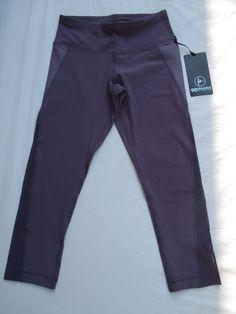 Leggings Capri Legging 90 Degree By Reflex Color Mulberry Sheer CW64640 New #90DegreeByReflex #Capri