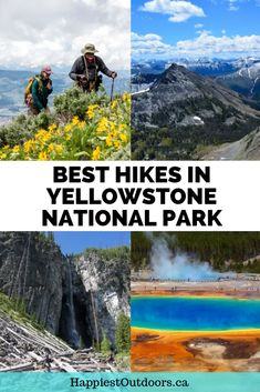 The best hiking trails in Yellowstone National Park Best Hikes in Yellowstone National Park Hiking trails in Yellowstone including easy hikes and difficult allday epics T. Best Hikes In Yellowstone, Yellowstone Nationalpark, Yellowstone Vacation, Estes Park Colorado, Colorado Hiking, Stavanger, Vacation Ideas, Nationalparks Usa, State Parks