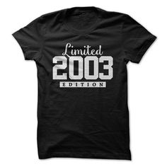 2003 Limited Edition B-day 13rd Birthday T-Shirt Tee by TeeSpaceX