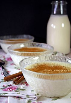 Rizogalo: Creamy Greek Rice Pudding with (chios mastic) Davis-Reid Cooking Tips Greek Sweets, Greek Desserts, Greek Recipes, Rice Desserts, Fun Desserts, Dessert Recipes, Appetizer Recipes, Breakfast Recipes, How To Cook Rice