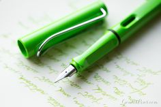 Lamy Safari Fountain Pen in Apple Green.... coming to Goulet Pens in early 2016