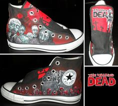 Walking Dead Converse- Part 1 by GamerGirl84244.deviantart.com