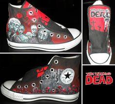 Walking Dead Converse- Part 1 by GamerGirl84244.deviantart.com