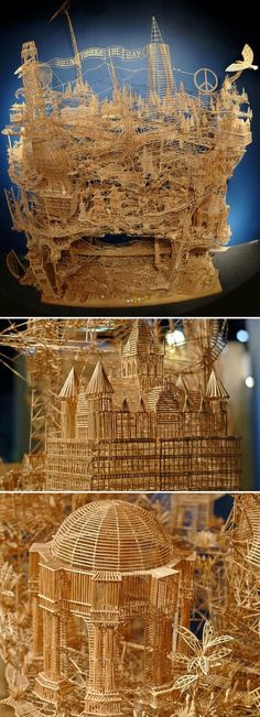 Amazing Toothpick Building | Most Beautiful Pages