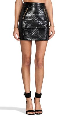 Shakuhachi Quilted Mini Skirt