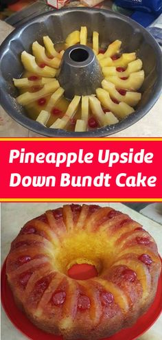 PINEAPPLE UPSIDE-DOWN BUNDT CAKE I love bundt cakes because they are so easy to serve. I found this … It comes out great and it will be the easiest pineapple upside down cake you'll ev… Sweet Recipes, Cake Recipes, Dessert Recipes, Simple Recipes, Food Cakes, Cupcake Cakes, Lemon Cupcakes, Strawberry Cupcakes, Bunt Cakes