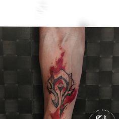 By John Needle Horde Tattoo, Trash Polka, Body Art Tattoos, Tattos, Watercolor Tattoo, Tattoo Ideas, Tattoos, Beauty, Ideas