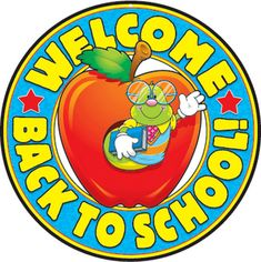 - Welcome Back to School! Two-Sided Decoration - Carson Dellosa Publishing Education Supplies Back To School Printables, Back To School Clipart, Beginning Of School, First Day Of School, School School, School Stuff, Classroom Borders, Classroom Images, Google Classroom
