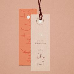 hang tag design - nice mix of simple typography and a touch of script Collateral Design, Stationery Design, Identity Design, Label Design, Print Design, Logo Design, Hangtag Design, Package Design, Packaging Design Inspiration