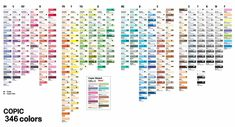copic markers color chart   Copic Ciao 180 Colour Chart - $0.00 : Manga Arts Copic Marker and Pen ...