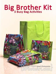 Big Brother Kit (3 Busy Bag Activities) - BPhotoArt.com
