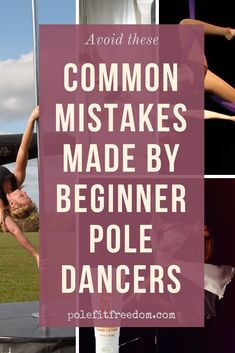 Avoid these common mistakes made by those new to pole dancing. If you're looking for tips for beginner pole dancers, you're in the right place! Figure Pole Dance, Pole Dancing For Beginners, Pole Dance Fitness, Pole Moves, Pole Tricks, Belly Dancing Classes, Ballet Barre, Swing Dancing, Dance Tips